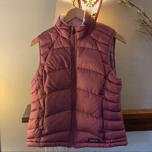 Patagonia pink puffer vest